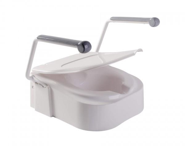 Toilettensitzerhöhung Drive Medical TSE 150 mit Armlehnen, höhenverstellbar, bis 150 kg belastbar
