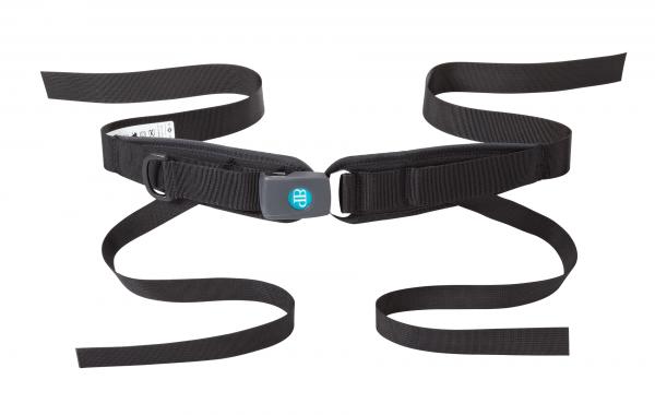Bodypoint 4-Punkt-Hüftgurt für Rollstuhl, gepolstert mit Druckknopf Verschluss, Sicherheitsgurt