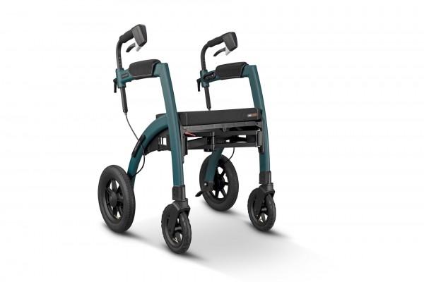 Saljol Rollz Motion² Performance Rollator Rollstuhl, 2in1 Transportrollstuhl mit Luftbereifung
