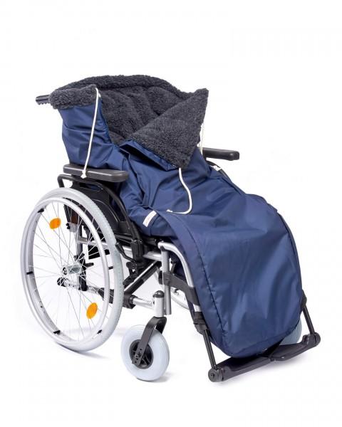 Schlupfsack Exclusiv Wollpelz Orgaterm für Rollstuhl mit Rundumreißverschluss, Gr. 4
