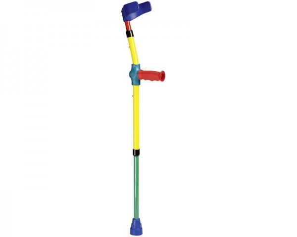 Ossenberg Unterarm-Gehstütze Junior für Jugendliche, Krücken mit anat. Softgriff, bis 100 kg belastb