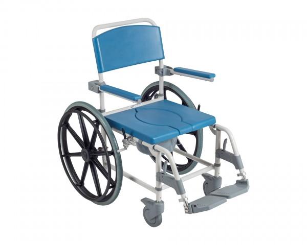 """Duschrollstuhl Drive Medical Aston mit 24""""-Antriebsrädern"""
