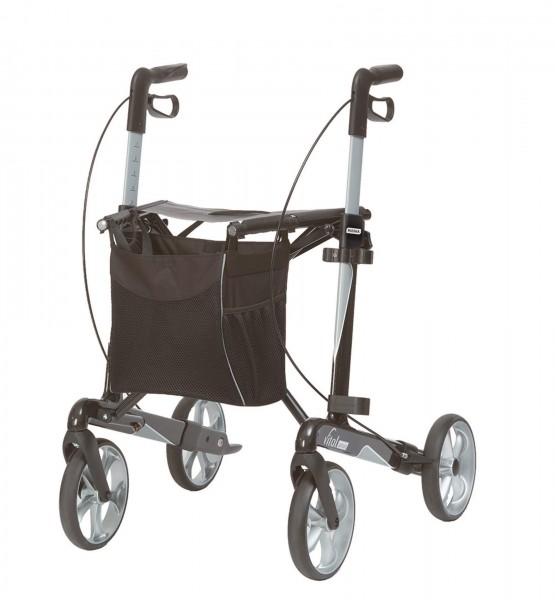 Leichtgewicht Rollator vital Carbon Russka, bis 150 kg belastbar