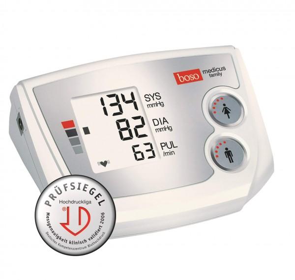 Oberarm-Blutdruckmessgerät boso medicus family, Partner-Blutdruckmessgerät