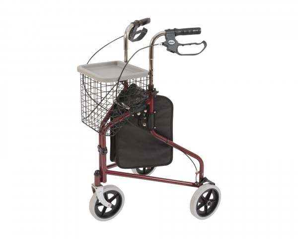 Drive Medical Rollator Tri Walker, faltbar, bis 130 kg belastbar