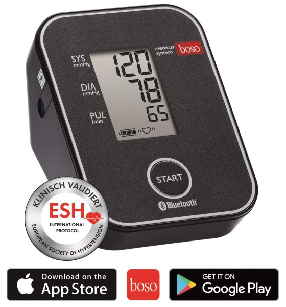Oberarm-Blutdruckmessgerät boso medicus system Premium mit App