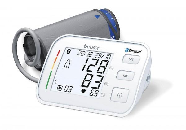 Oberarm-Blutdruckmessgerät Beurer BM 57 mit Oberarmmanschette, bis 43 cm Umfang