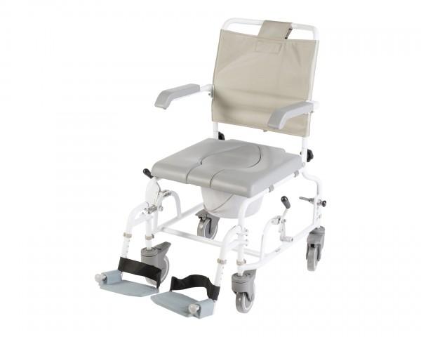 Duschrollstuhl Drive Medical DuoMotion, Toilettenrollstuhl mit Toiletteneimer