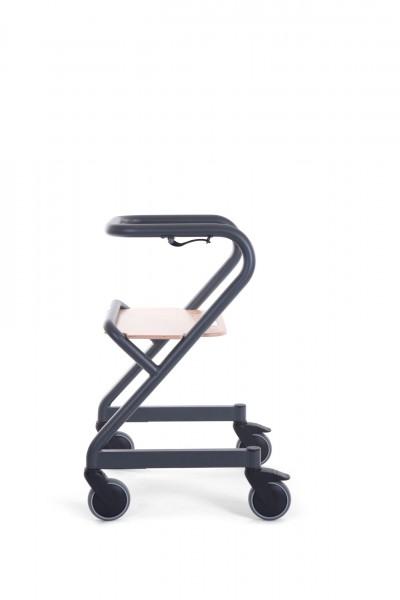 Saljol Wohnraumrollator Page, Indoor Rollator, mit Sitzbrett, optional mit Fuß- oder Handbremse