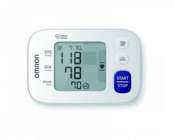 Handgelenk-Blutdruckmessgerä OMRON RS4 mit Handgelenkmanschette, bis 21,5 cm Umfang