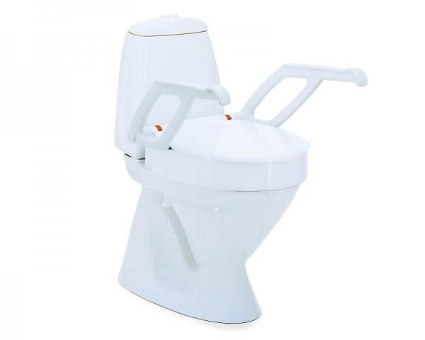 Aquatec Toilettensitzerhöhung 90000 mit Armlehnen, 2 cm Erhöhung, bis 150 kg belastbar