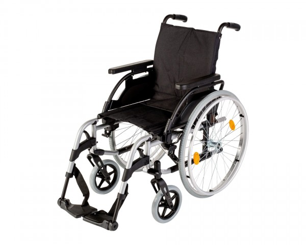 Leichtgewichtrollstuhl Sunrise Medical Breezy BasiX², Faltrollstuhl, bis 125 kg belastbar
