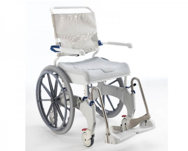 "Dusch-Toilettenrollstuhl Aquatec Ocean 24"", für Selbstfahrer, mit 24-Zoll-Rädern"