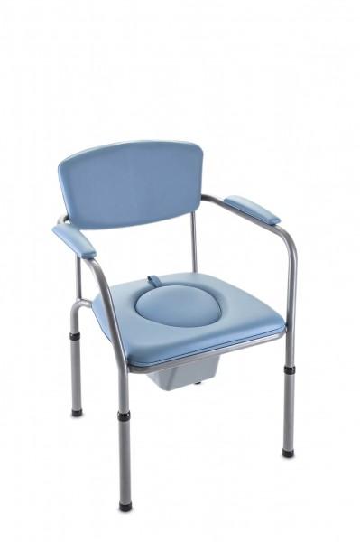 Invacare Toilettenstuhl H440 Omega Eco gepolstert mit Toiletteneimer, bis 140 kg belastbar