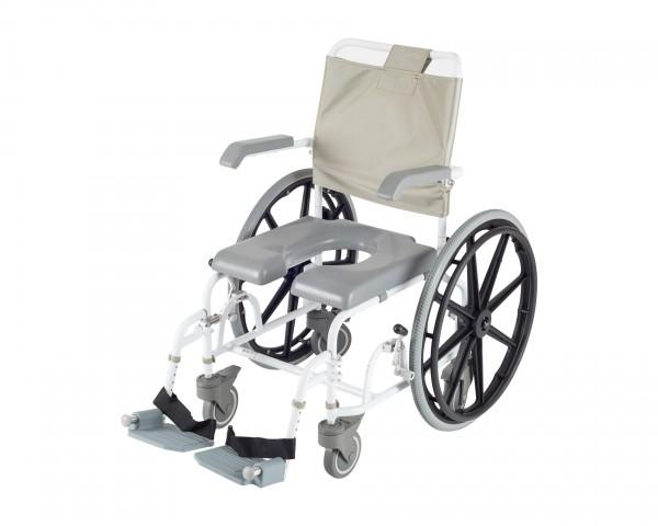 Duschrollstuhl Drive Medical DuoMotion 24, für Selbstfahrer, mit 24-Zoll-Rädern