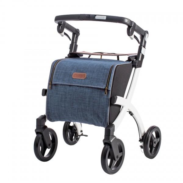 Saljol Rollz Flex Einkaufsrollator mit großer Einkaufstasche bis 25 l, faltbar, bis 125 kg belastbar