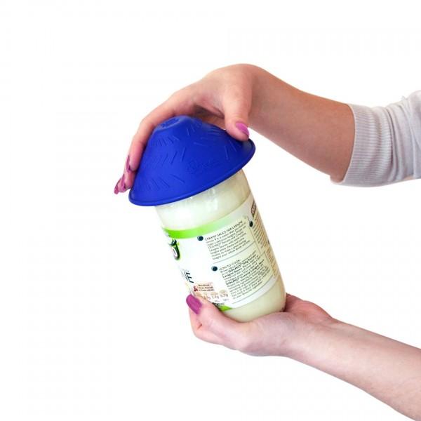 Rehaforum Medical Tenura Glasöffner blau, Öffnungshilfe für Glasdeckel