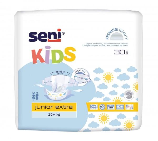 Seni Kids Junior Extra Inkontinenzhosen, 15-30 kg, 150 Stück, Inkontinenzwindeln für Kinder
