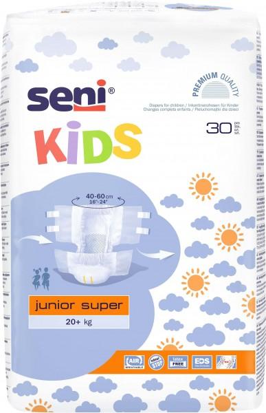 SENI Kids Junior Super Inkontinenzhosen, 20+ kg, 120 Stück, Inkontinenzwindeln für Kinder
