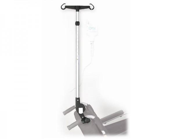 MPB Infusionshalter WV 22 für Rollstühle und Rollatoren, winkel- und höhenverstellbar, für 22 mm Roh