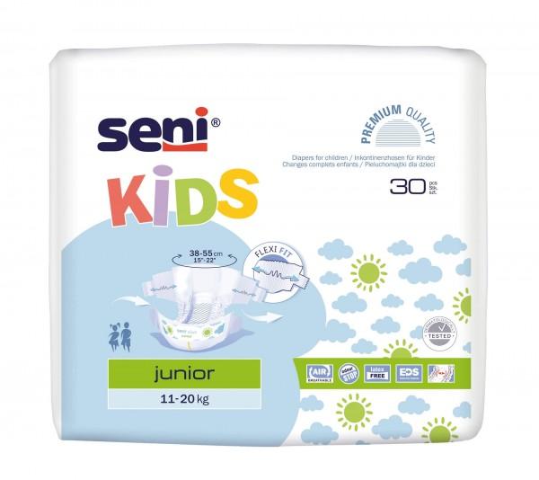 SENI Kids Junior Inkontinenzhosen, 20+ kg, 150 Stück, Inkontinenzwindeln für Kinder