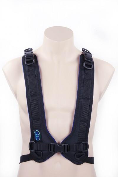 John 4-Punkt Brustgurt mit Kunststoffschloss für Rollstuhl, Positionierungshilfe