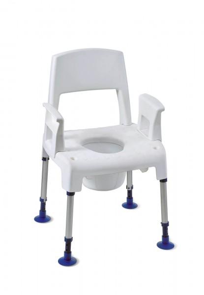 Invacare Duschstuhl Aquatec Pico 3 in 1, Duschsstuhl, Toilettenstuhl, Toilettenstützgestell