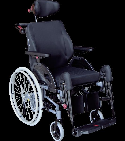Pflegerollstuhl Netti 4U CED XL, Alu Rehab Rollstuhl