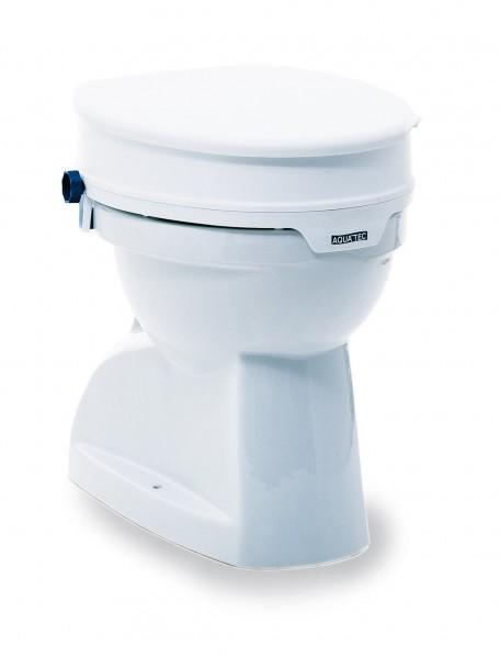 Aquatec 90 Toilettensitzerhöhung mit o. ohne Deckel, 10 cm Erhöhung für Toilettenbecken, werkzeuglos