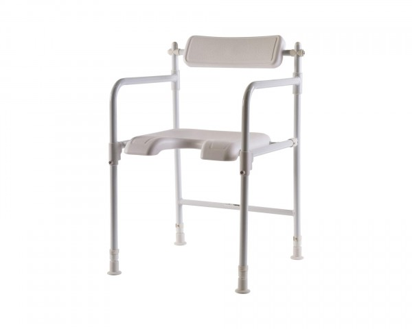 Duschstuhl Mobilex mit Armlehnen, bis 100 kg belastbar