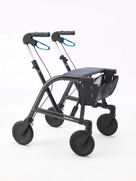 Dolomite Gloss Leichtgewicht Rollator mit Tasche, Tablett und Stockhalter, klappbar, bis 160 kg