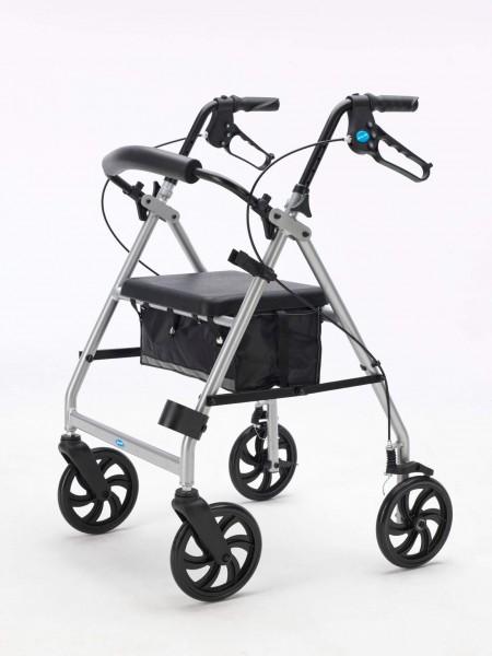Dolomite Brass Leichtgewicht Rollator mit Stockhalter, zusammenklappbar, bis 135 kg belastbar