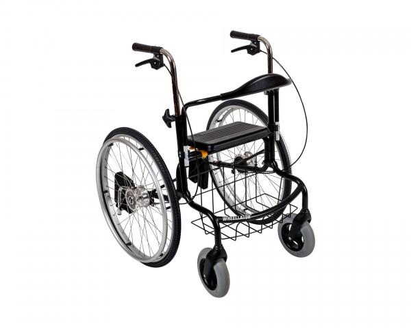 Wheellator, 2in1 Rollstuhl und Rollator, Transportrollstuhl, klappbar