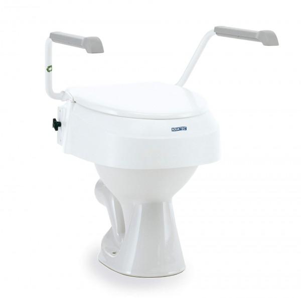 Aquatec 900 Toilettensitzerhöhung mit o. ohne Armlehnen, höhenverstellbar, werkzeuglos