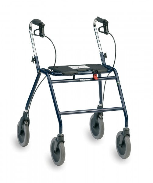 Dolomite Maxi+ Schwergewicht Rollator mit Rückengurt, stabil und leicht, klappbar, bis 200 kg