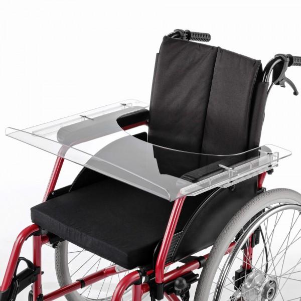 Therapietisch Mont. Code 929 Meyra für Rollstuhl aus Plexiglas, Rollstuhltisch
