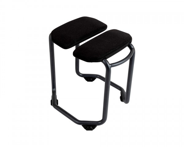 Saljol Spa Duschhocker, drehbar, mit Hygieneausschnitt, mit rutschfesten Rädern, bis 150kg belastbar