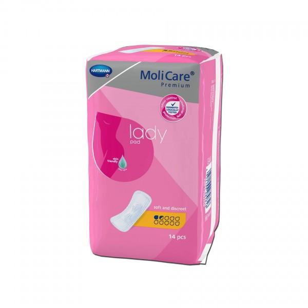 MoliCare Premium lady pad, 1,5 Tropfen, Hartmann Inkontinenzeinlagen für Frauen